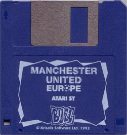 Artwork on the Disc for Manchester United Europe on the Atari ST.