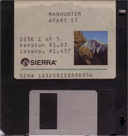 Artwork on the Disc for Manhunter: New York on the Atari ST.