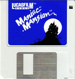 Artwork on the Disc for Maniac Mansion on the Atari ST.