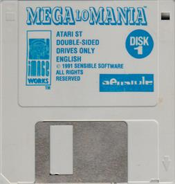 Artwork on the Disc for Mega Lo Mania & First Samurai on the Atari ST.