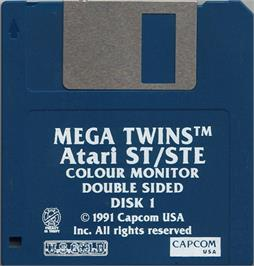 Artwork on the Disc for Mega Twins on the Atari ST.