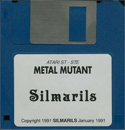 Artwork on the Disc for Metal Mutant on the Atari ST.