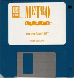 Artwork on the Disc for Metro-Cross on the Atari ST.