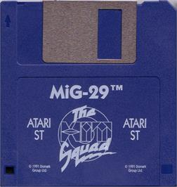 Artwork on the Disc for MiG-29 Fulcrum on the Atari ST.