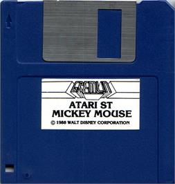 Artwork on the Disc for Mickey Mouse: The Computer Game on the Atari ST.