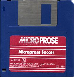 Artwork on the Disc for Microprose Pro Soccer on the Atari ST.