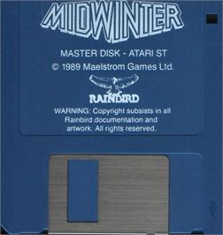 Artwork on the Disc for Mind Bender on the Atari ST.