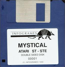 Artwork on the Disc for Mystical on the Atari ST.