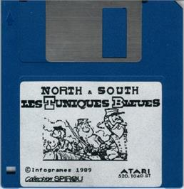 Artwork on the Disc for North & South on the Atari ST.