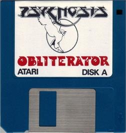 Artwork on the Disc for Obliterator on the Atari ST.