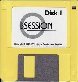 Artwork on the Disc for Obsession on the Atari ST.