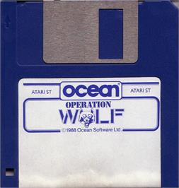 Artwork on the Disc for Operation Wolf on the Atari ST.