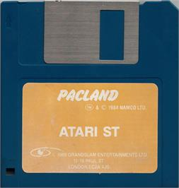 Artwork on the Disc for Pac-Land on the Atari ST.