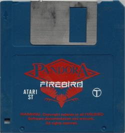 Artwork on the Disc for Pandora on the Atari ST.