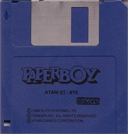 Artwork on the Disc for Paperboy on the Atari ST.
