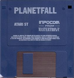 Artwork on the Disc for Planetfall on the Atari ST.