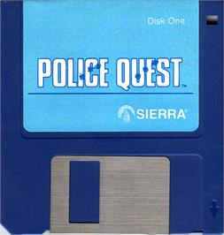 Artwork on the Disc for Police Quest: In Pursuit of the Death Angel on the Atari ST.