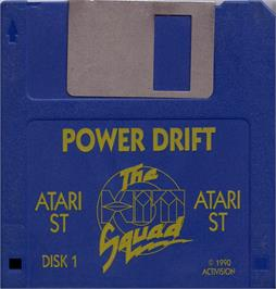 Artwork on the Disc for Power Drift on the Atari ST.