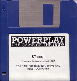 Artwork on the Disc for Powerplay: The Game of the Gods on the Atari ST.