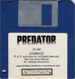 Artwork on the Disc for Predator on the Atari ST.