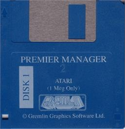 Artwork on the Disc for Premier Manager 2 on the Atari ST.