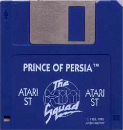 Artwork on the Disc for Prince of Persia on the Atari ST.