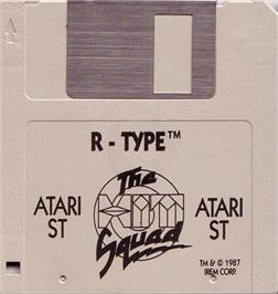 Artwork on the Disc for R-Type on the Atari ST.