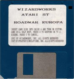 Artwork on the Disc for Roadwar Europa on the Atari ST.
