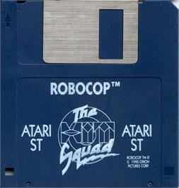 Artwork on the Disc for Robocop on the Atari ST.