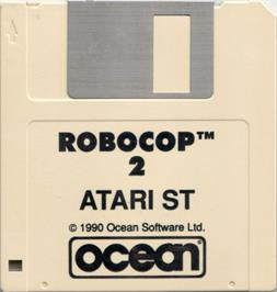 Artwork on the Disc for Robotron on the Atari ST.