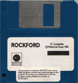 Artwork on the Disc for Rockford: The Arcade Game on the Atari ST.