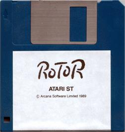 Artwork on the Disc for Rotor on the Atari ST.