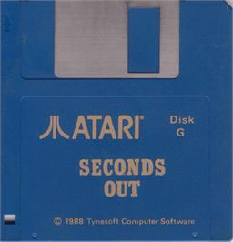 Artwork on the Disc for Seconds Out on the Atari ST.