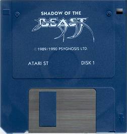 Artwork on the Disc for Shadow of the Beast on the Atari ST.