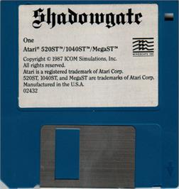 Artwork on the Disc for Shadowgate on the Atari ST.