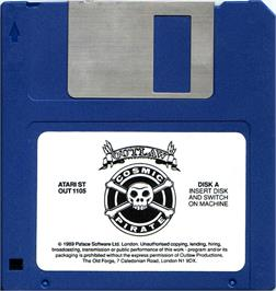 Artwork on the Disc for Sid Meier's Pirates on the Atari ST.