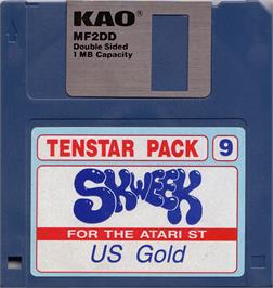Artwork on the Disc for Skweek on the Atari ST.