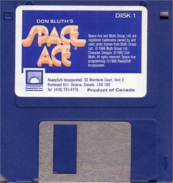Artwork on the Disc for Space Ace on the Atari ST.