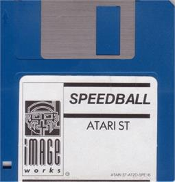 Artwork on the Disc for Speedball on the Atari ST.