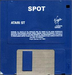 Artwork on the Disc for Spot on the Atari ST.