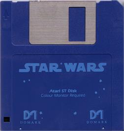Artwork on the Disc for Star Wars: Return of the Jedi on the Atari ST.