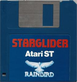 Artwork on the Disc for Starglider on the Atari ST.