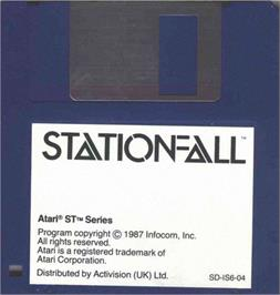 Artwork on the Disc for Stationfall on the Atari ST.