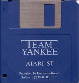 Artwork on the Disc for Team Yankee on the Atari ST.
