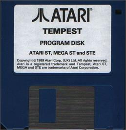 Artwork on the Disc for Tempest on the Atari ST.