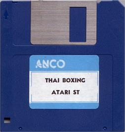Artwork on the Disc for Thai Boxing on the Atari ST.