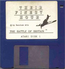 Artwork on the Disc for Their Finest Hour: The Battle of Britain on the Atari ST.
