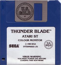 Artwork on the Disc for Thunder Blade on the Atari ST.