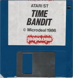 Artwork on the Disc for Time Bandit on the Atari ST.