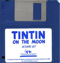 Artwork on the Disc for Tintin on the Moon on the Atari ST.